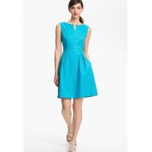 Kate Spade Cleo sleeveless linen dress 10 in teal